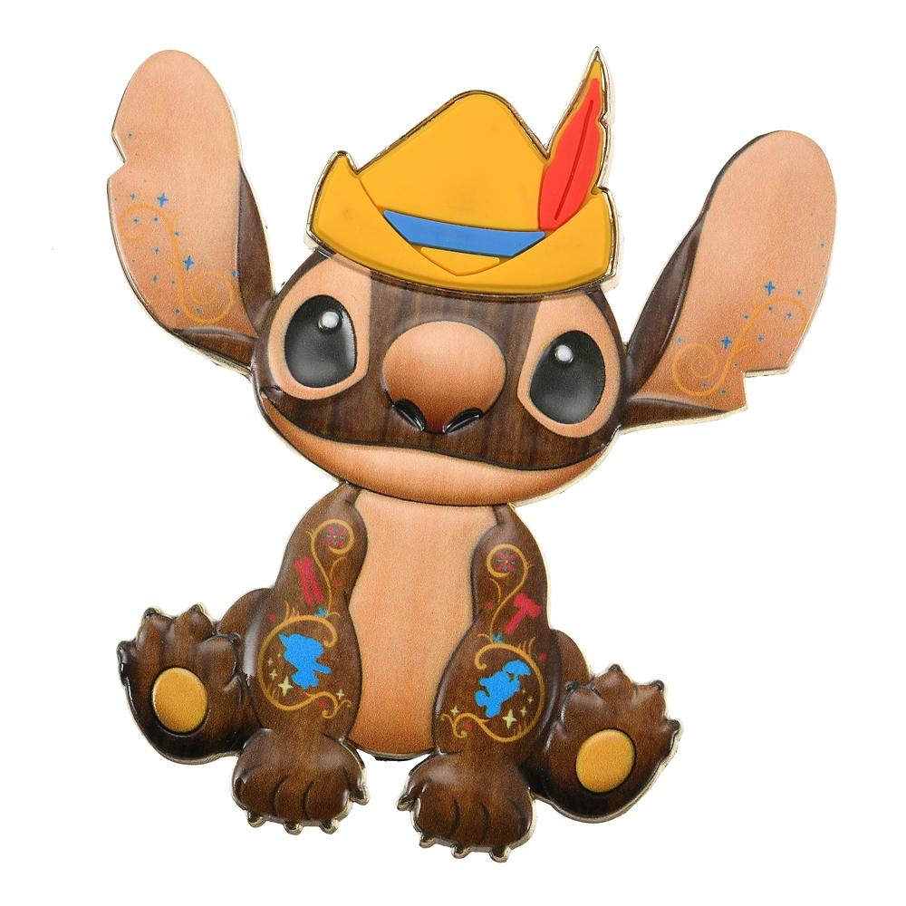 スティッチ ピンバッジ Pinocchio Stitch Crashes Disney