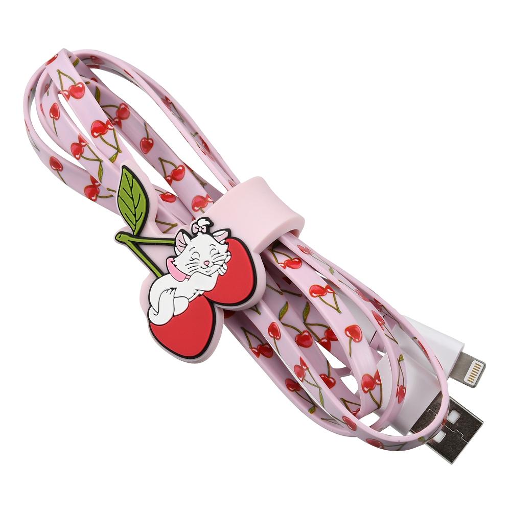 マリー おしゃれキャット iPhone/iPad/iPod用USBコード 2in1 ケーブルタイ付き CHERRY