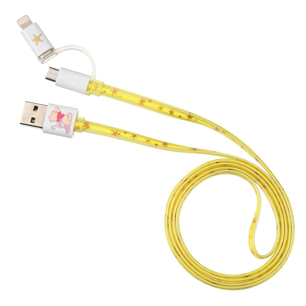 プーさん&ピグレット iPhone/iPad/iPod用USBコード 2in1 ライトアップ Starry sky