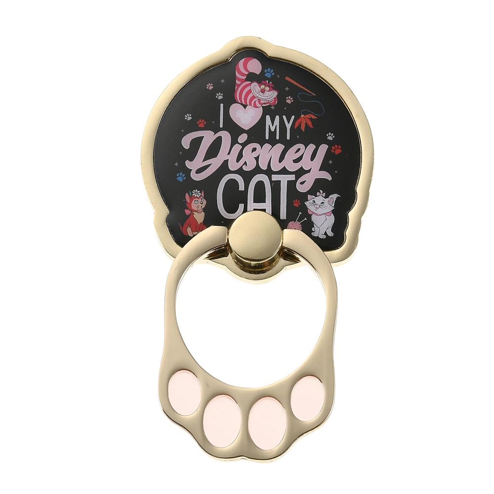 おしゃれキャット マリー、ダイナ、チェシャ猫 スマートフォンリング I Love MY Disney CAT