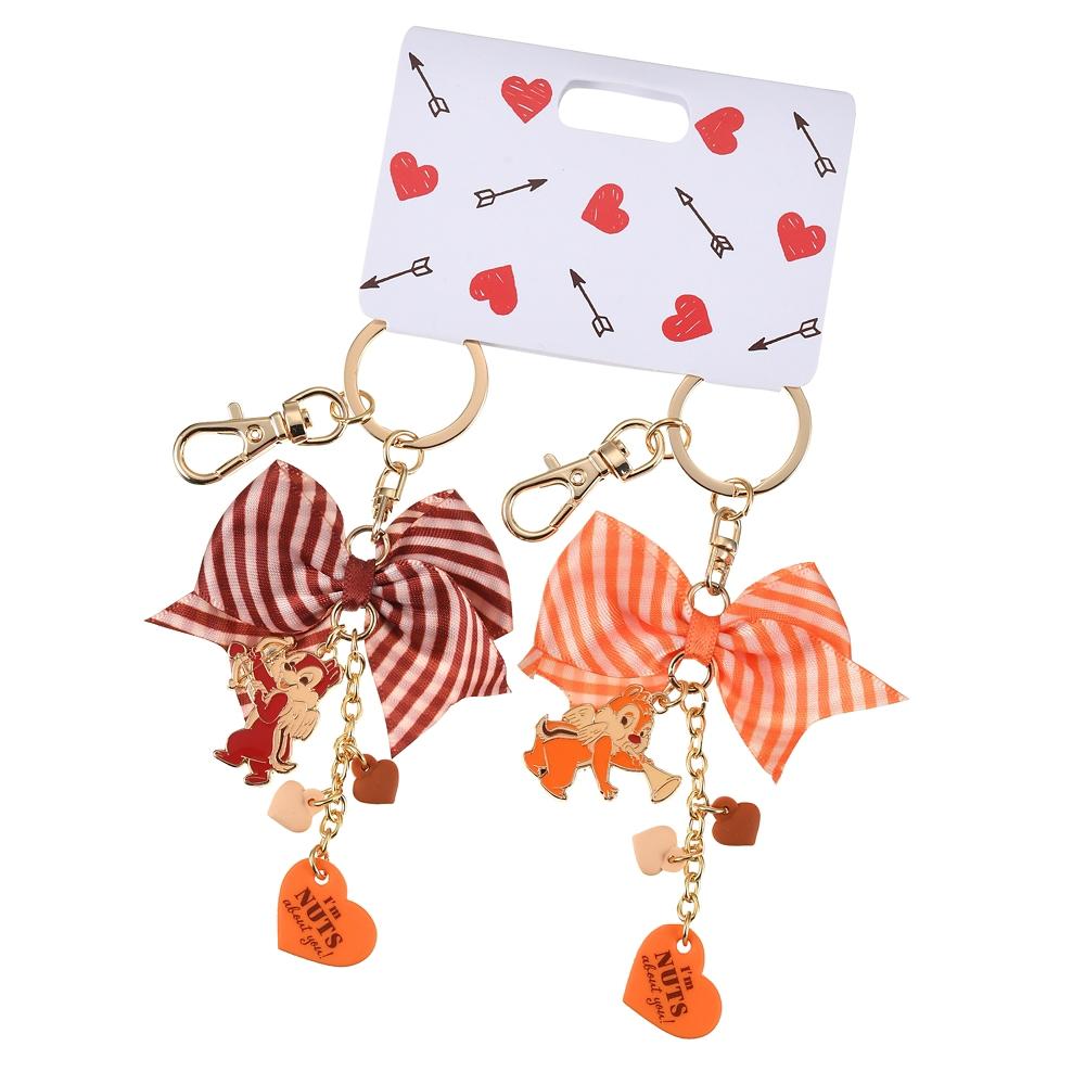 チップ&デール キーホルダー・キーチェーン ペア Valentine Pop