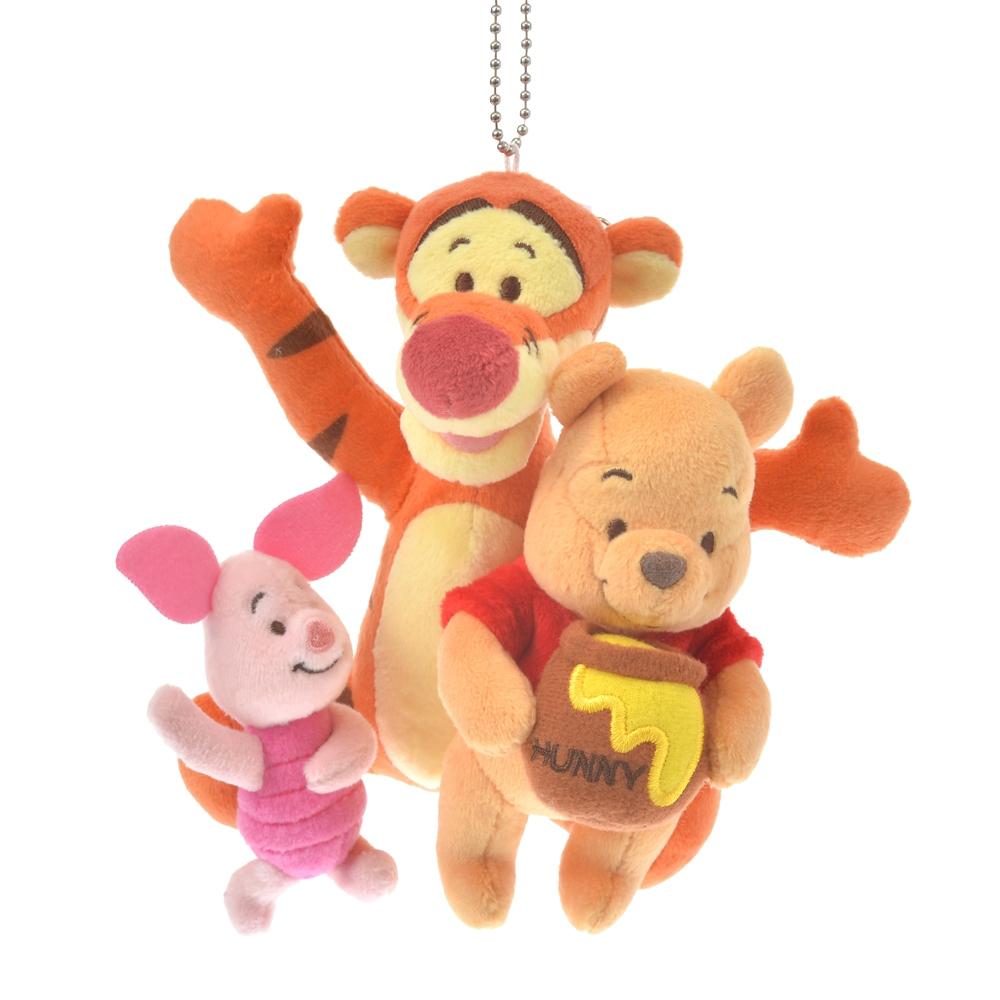 プーさん、ピグレット、ティガー ぬいぐるみキーホルダー・キーチェーン Winnie the Pooh And The Honey Tree 55th Anniversary
