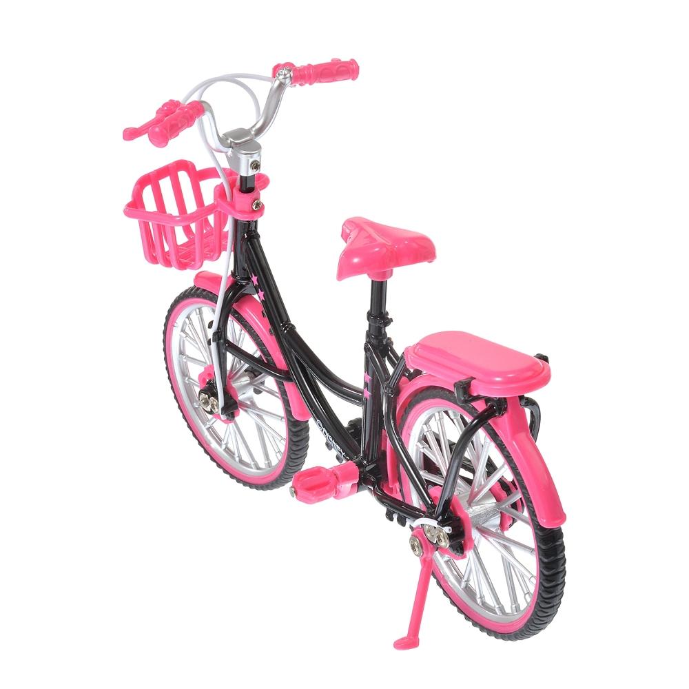 nuiMOs ぬいぐるみ専用自転車 ピンク&ブラック