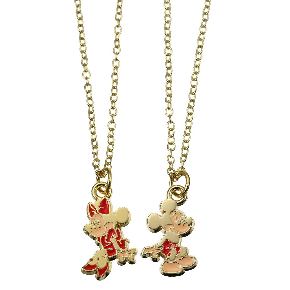 ミッキー&ミニー ネックレス ペア Valentine Pop