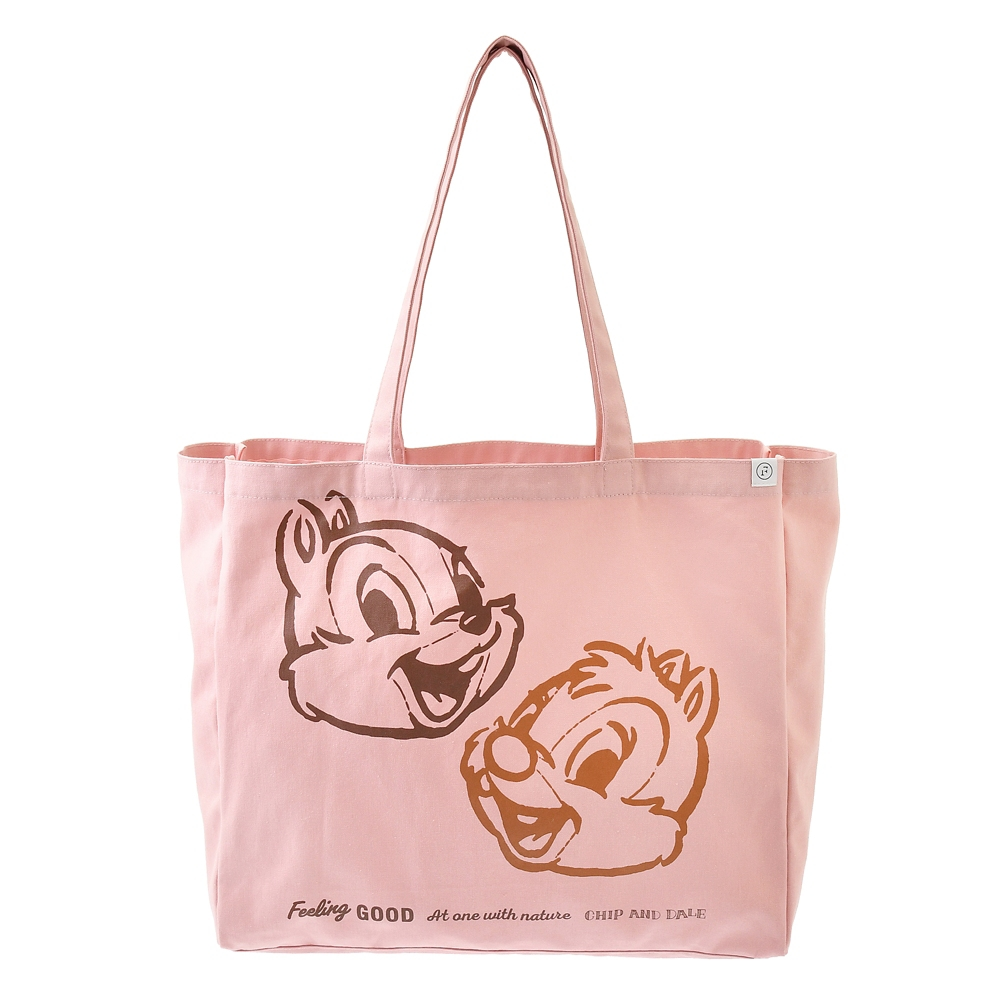 【FOOD TEXTILE】チップ&デール トートバッグ ピンク Chip&Dale FOOD TEXTILE