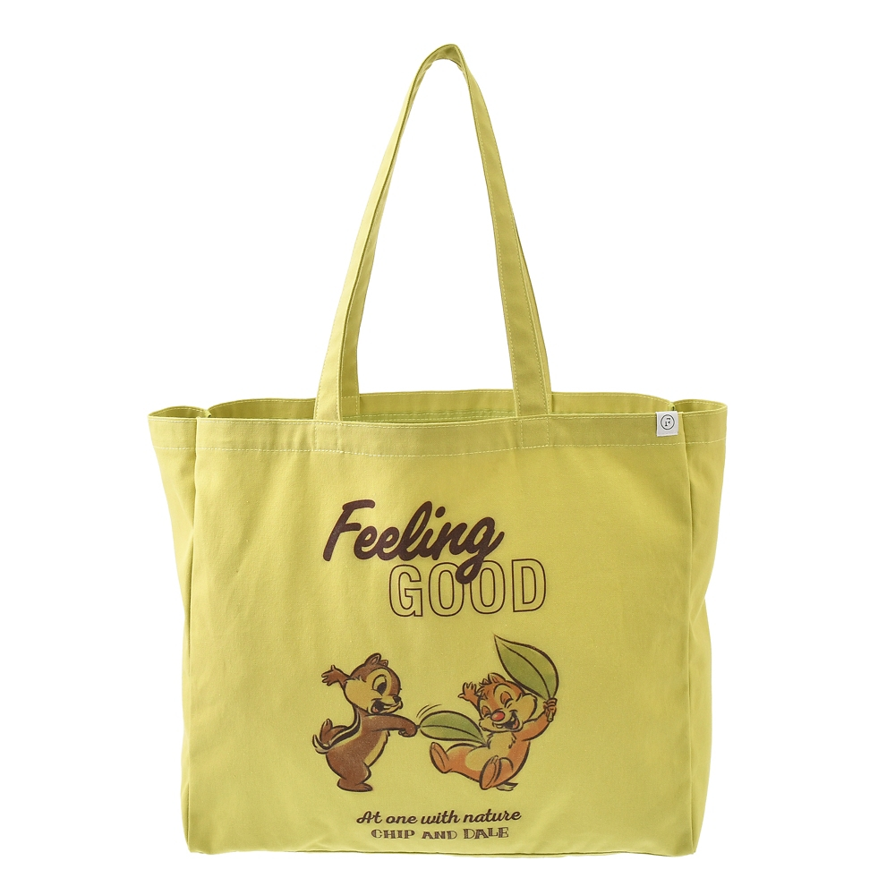 【FOOD TEXTILE】チップ&デール トートバッグ グリーン Chip&Dale FOOD TEXTILE