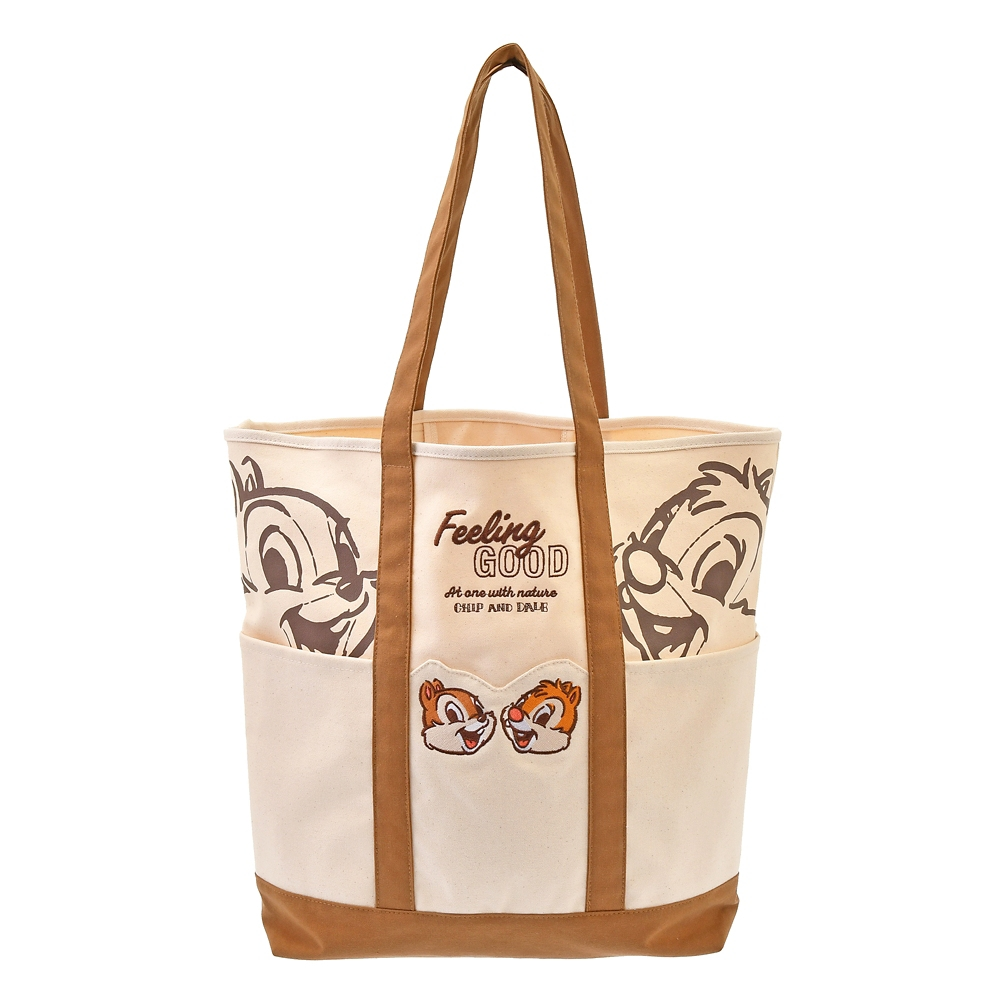 【FOOD TEXTILE】チップ&デール トートバッグ(L) ブラウン Chip&Dale FOOD TEXTILE