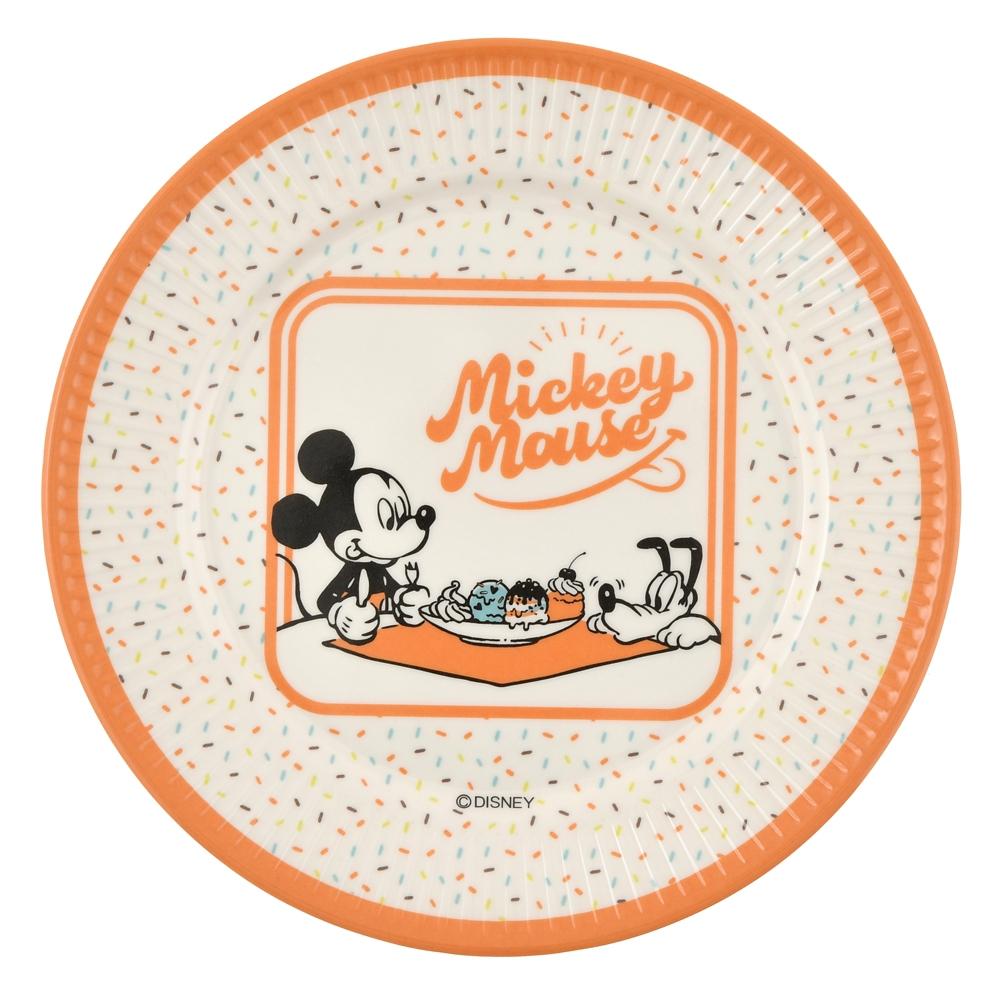 ミッキー&プルート プレート Ice Cream Parlor