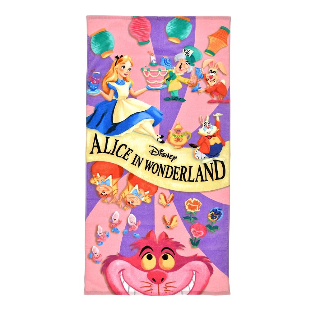 ふしぎの国のアリス バスタオル パープル&ピンク