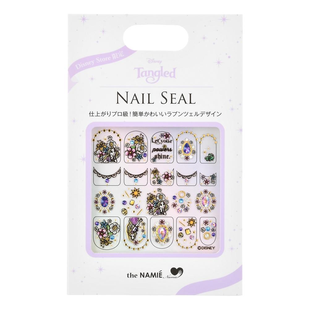 【the NAMIE nail art collection】ラプンツェル&パスカル ネイルシール ブラックライン