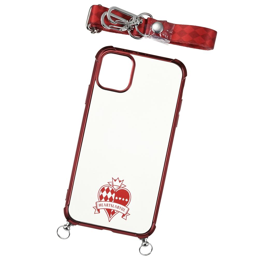 ハーツラビュル寮 iPhone 11用スマホケース・カバー ストラップ付き 寮章 『ディズニー ツイステッドワンダーランド』