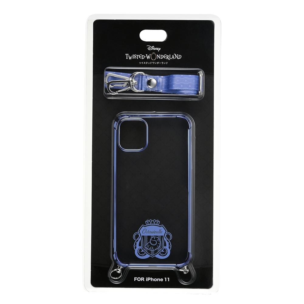 オクタヴィネル寮 iPhone 11用スマホケース・カバー ストラップ付き 寮章 『ディズニー ツイステッドワンダーランド』