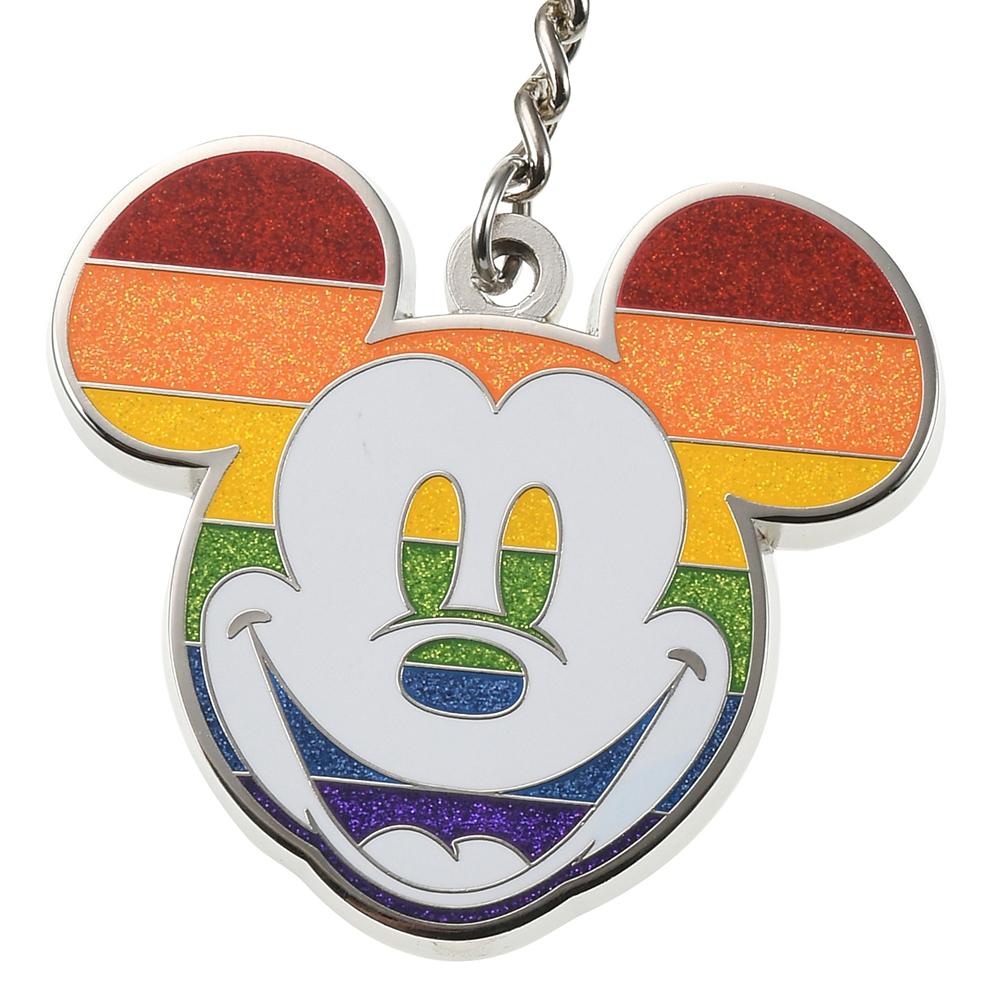 ミッキー キーホルダー・キーチェーン フェイス The Walt Disney Company's Pride Collection