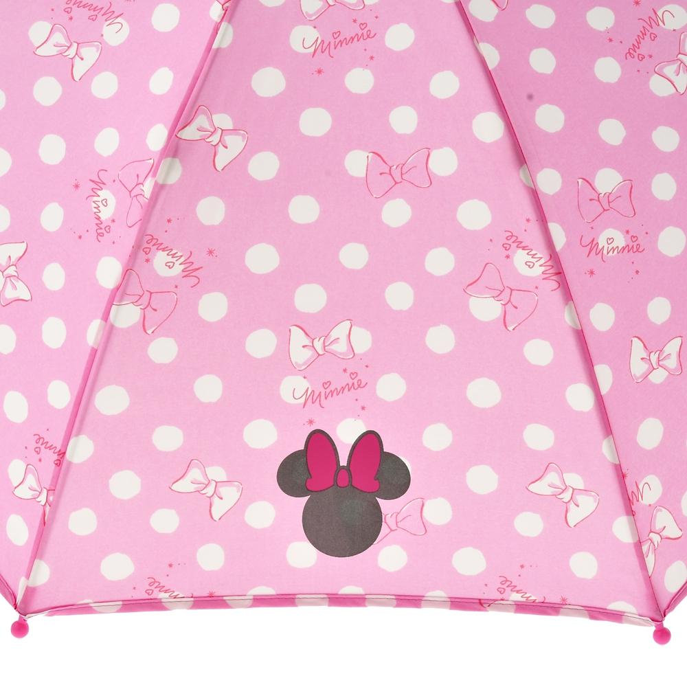 ミニー キッズ用傘 ロマンティックドット Rain
