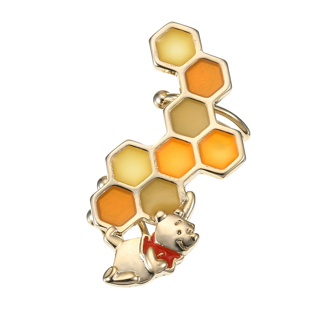 プーさん イヤーカフ 蜂の巣 カーブ