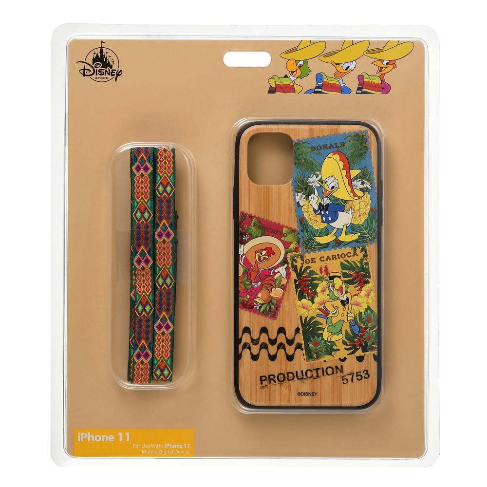 ドナルド、ホセ・キャリオカ、パンチート iPhone 11用スマホケース・カバー ストラップ付き Donald Duck Birthday 2021