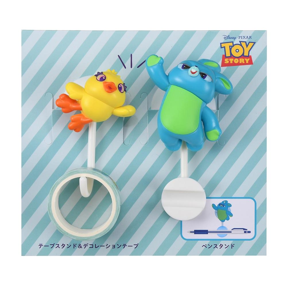 ダッキー&バニー テープスタンド・ペンスタンド デコレーションテープ付き Playful Toys