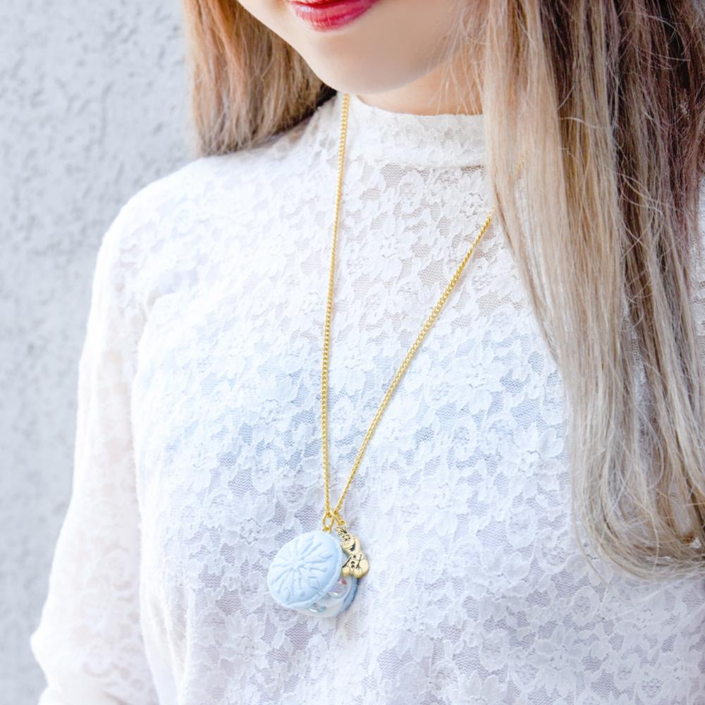 【キューポット】アナと雪の女王/ネックレス フローズンマカロン