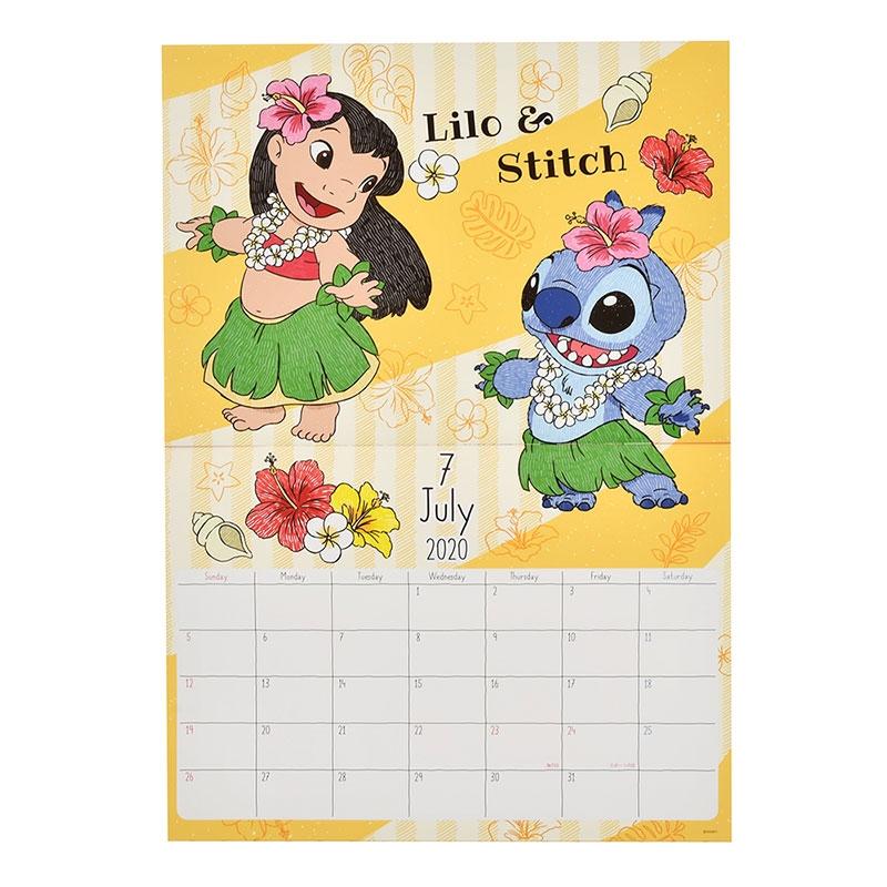 リロ&スティッチ 壁掛けカレンダー 2020 レイ ペン画