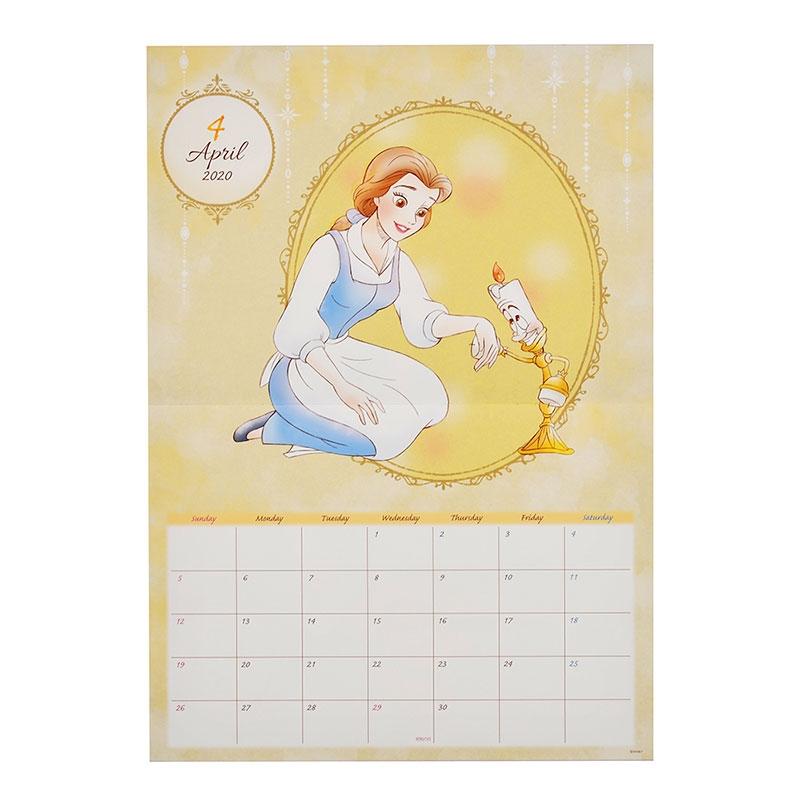 ディズニープリンセス 壁掛けカレンダー 2020 フレンド