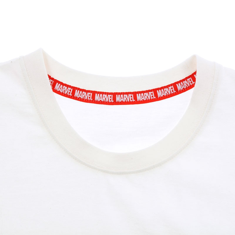 半袖Tシャツ(M) マーベル ロゴ 発泡プリント ホワイト