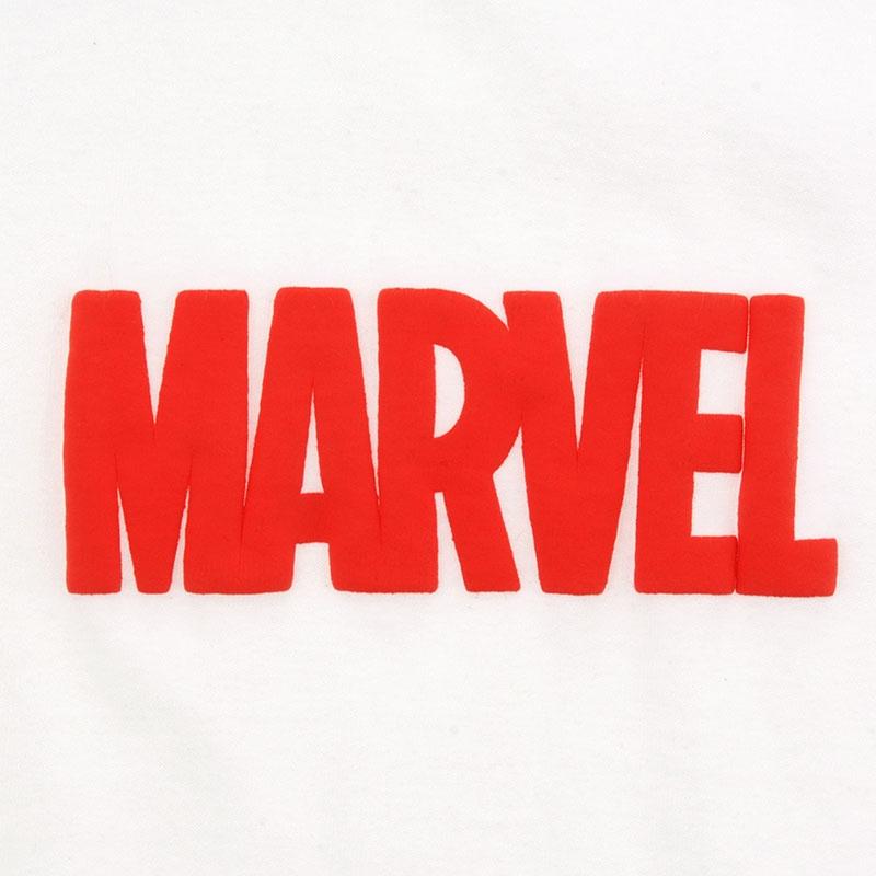 半袖Tシャツ(L) マーベル ロゴ 発泡プリント ホワイト