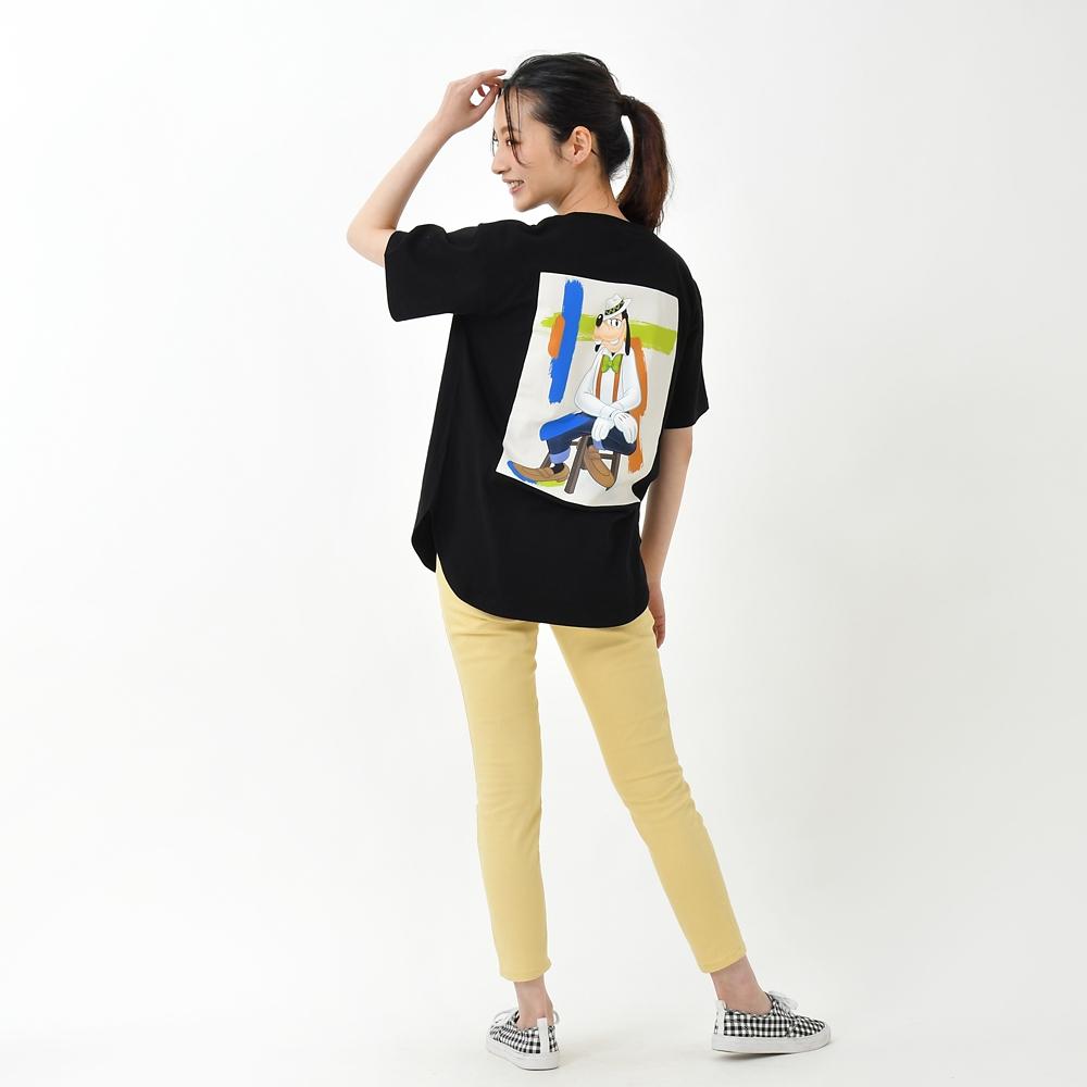 グーフィー 半袖Tシャツ ブラック ブラシストローク Goofy Style