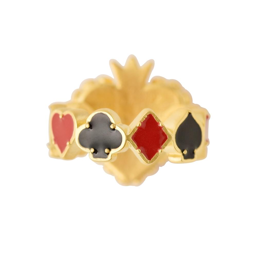 【キューポット】ハートの女王/リング13号 トランプ