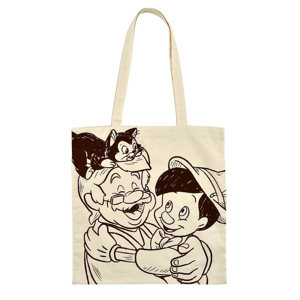 ピノキオ、ゼペット、フィガロ トートバッグ ハグ&スマイル TOTE BAG Collection