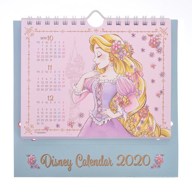 ディズニープリンセス、アリス 卓上カレンダー 2020 フェミニン ポップアップ