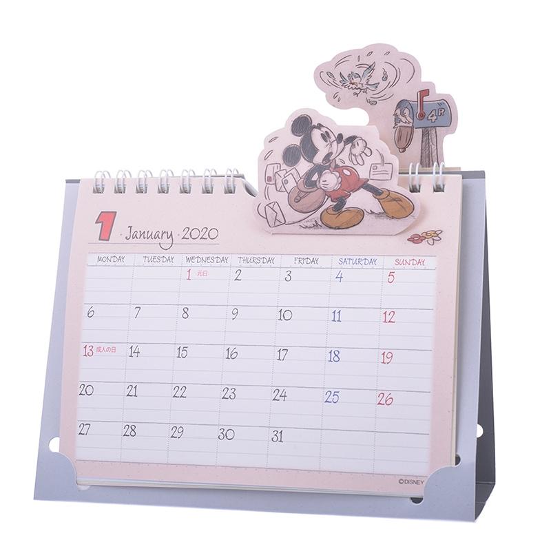 ミッキー&フレンズ 卓上カレンダー 2020 ポップアップ