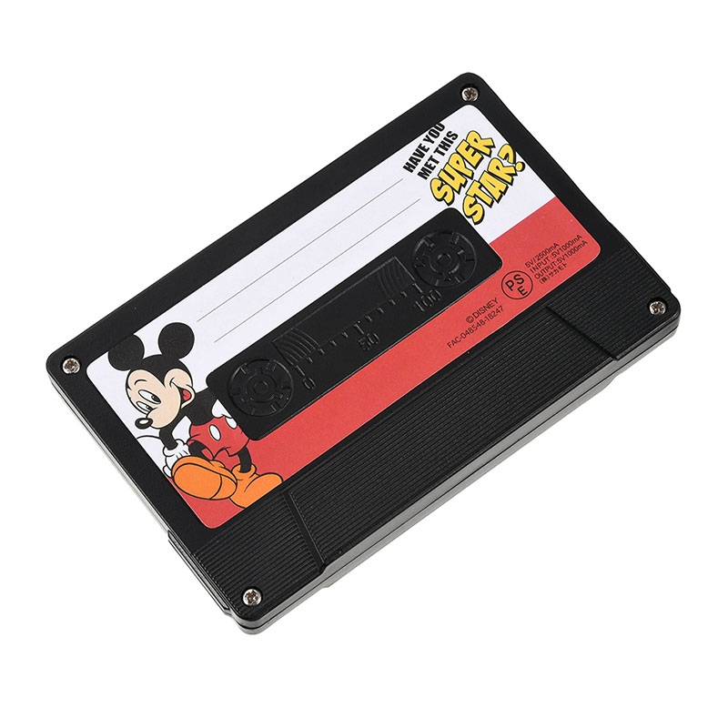 モバイルバッテリーチャージャー ミッキー&フレンズ カセットテープ Mickey Mouse 90th Vintage
