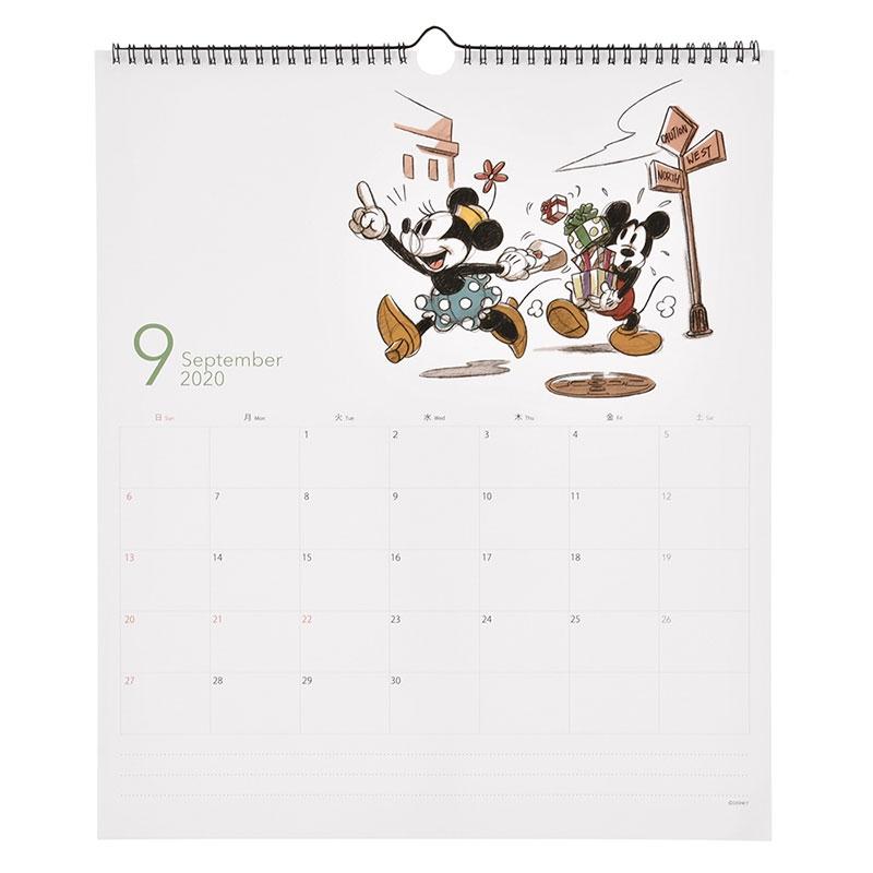 ミッキー&フレンズ 壁掛けカレンダー 2020 ホワイトボード Classic