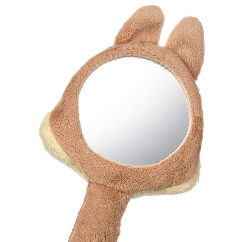 チップ ハンドミラー・手鏡 ぬいぐるみ風 Healing