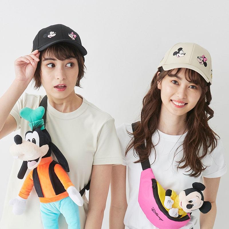 ミッキー&フレンズ 帽子・キャップ ベージュ シミラールック