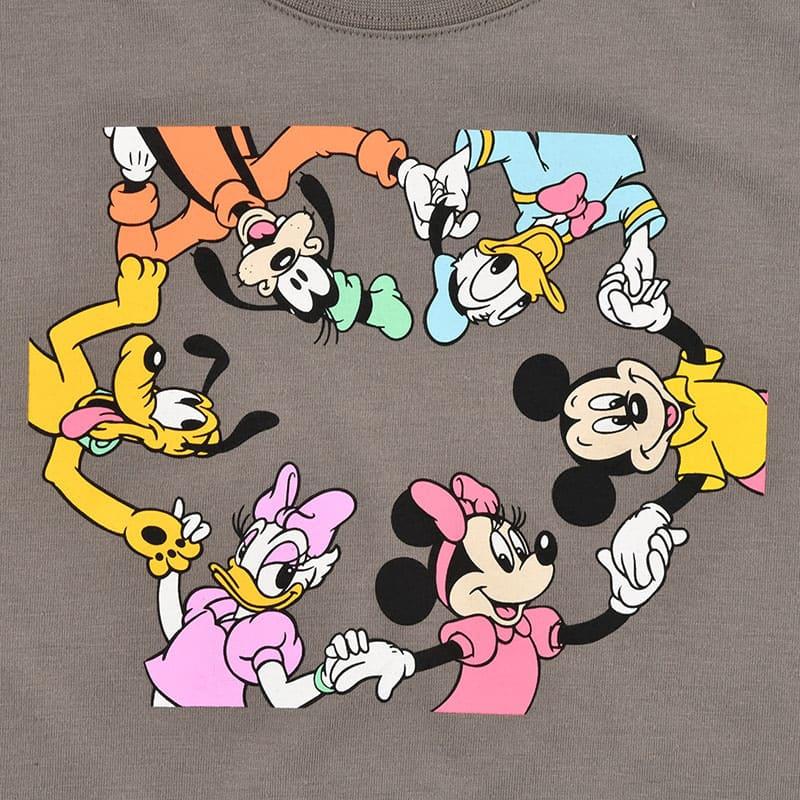 ミッキー&フレンズ 半袖Tシャツ グレー シミラールック