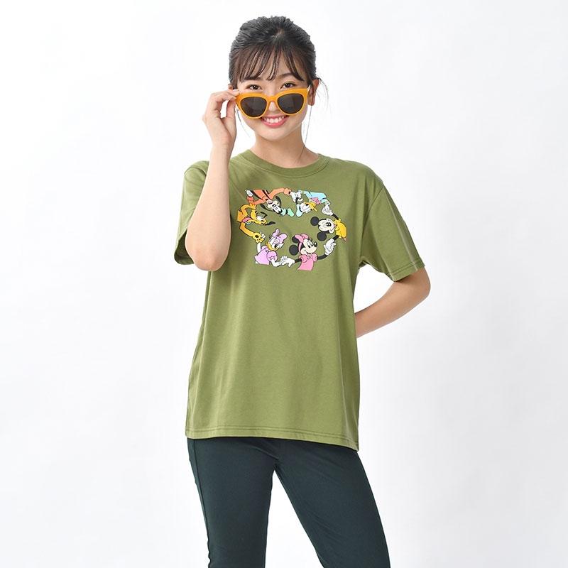 ミッキー&フレンズ 半袖Tシャツ カーキ シミラールック