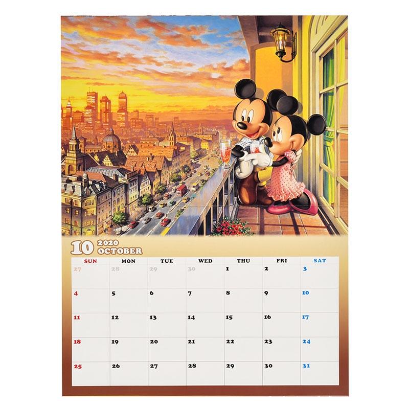 ミッキー&フレンズ 壁掛けカレンダー 2020 Rainbow