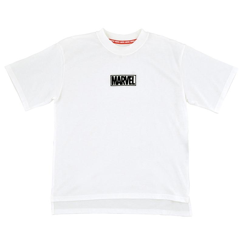 半袖Tシャツ(M) マーベル ロゴ ホワイト オーバーサイズ