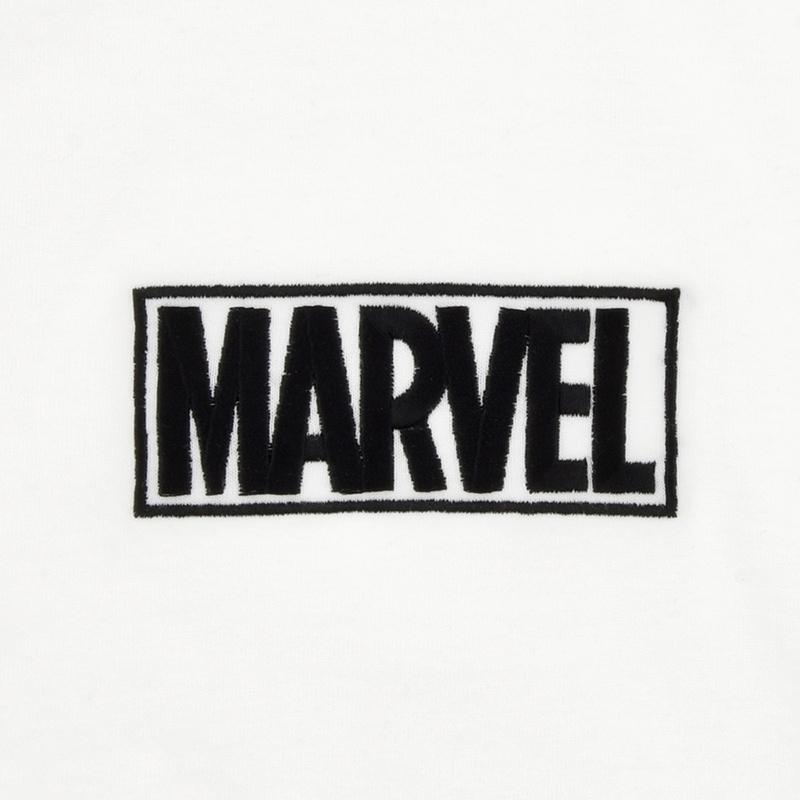 半袖Tシャツ(L) マーベル ロゴ ホワイト オーバーサイズ