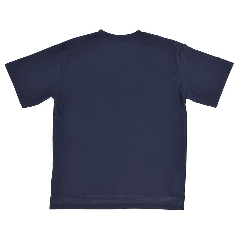 半袖Tシャツ(L) マーベル ロゴ ネイビー オーバーサイズ