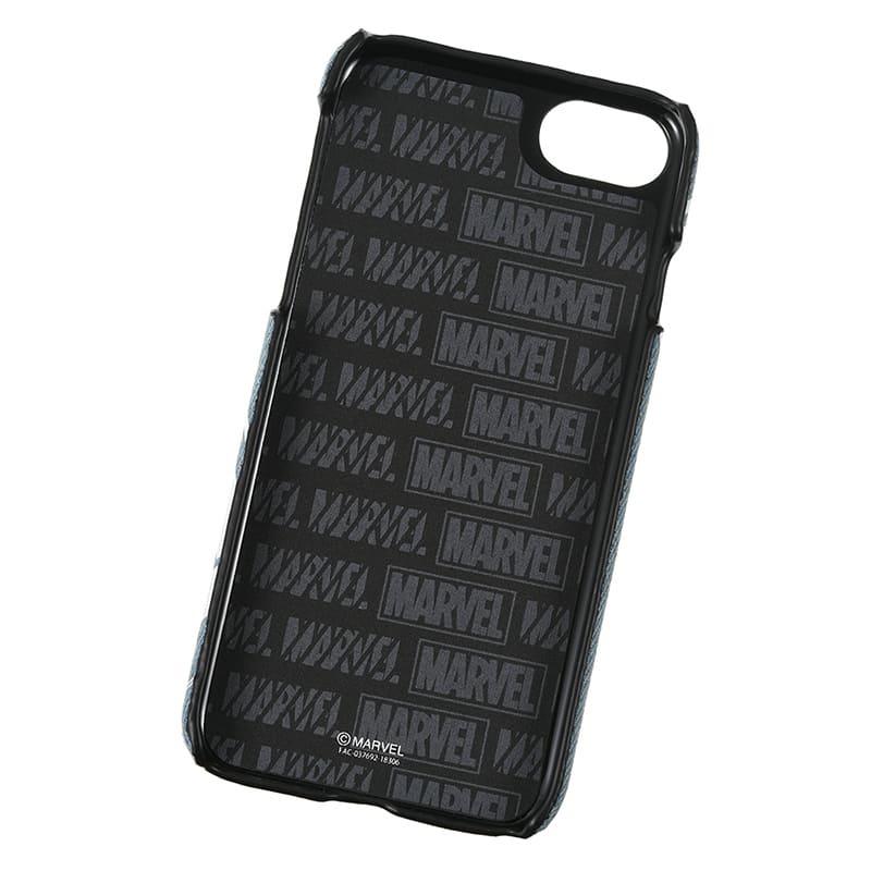 iPhone 6/6s/7/8用スマホケース・カバー マーベル ロゴ ライトブルー デニム