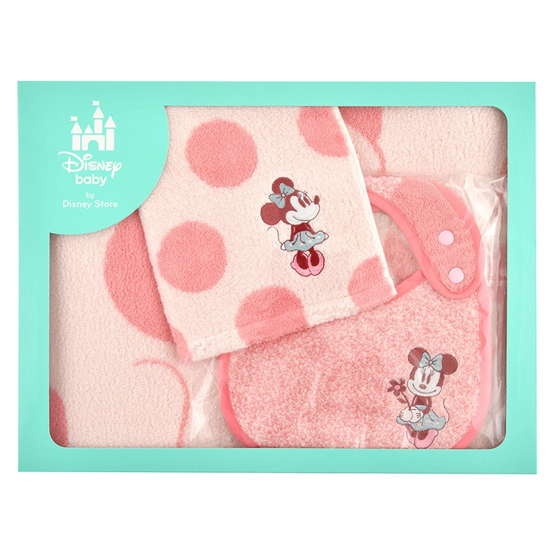 ミニー BABY GIFT タオル&スタイ 3点セット ドットミックス Disney baby