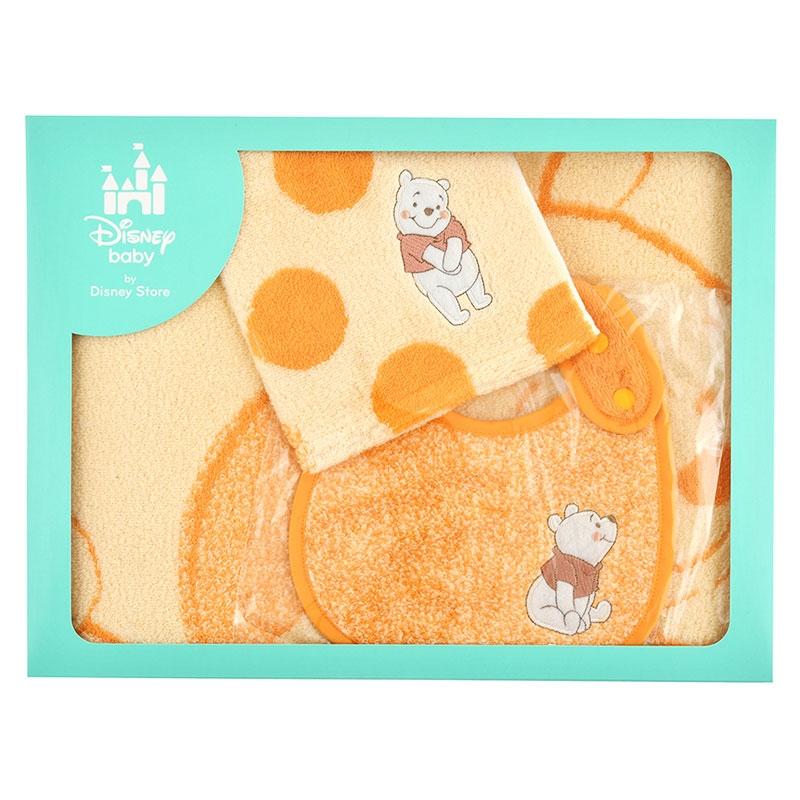 プーさん BABY GIFT タオル&スタイ 3点セット ドットミックス Disney baby