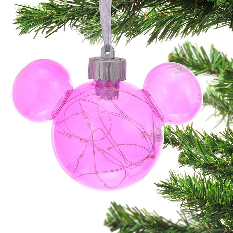ミッキー オーナメント ライトアップ ピンク Disney Christmas