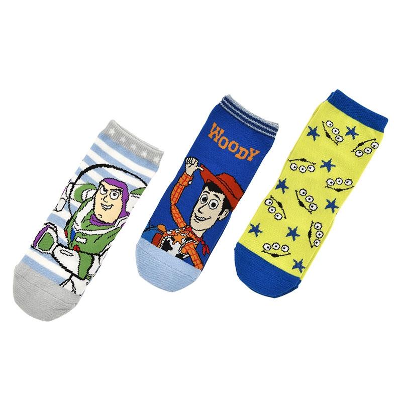 ウッディ、バズ・ライトイヤー、リトル・グリーン・メン/エイリアン キッズ用靴下セット