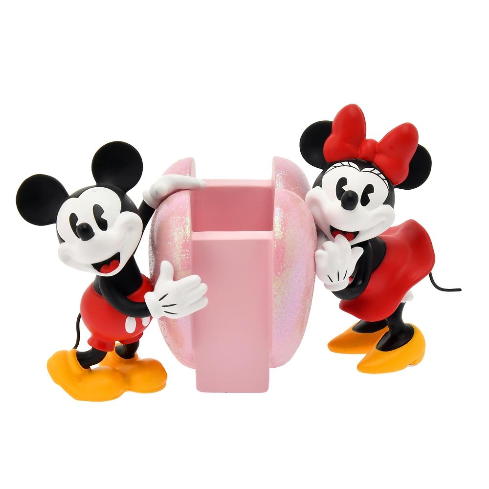 ミッキー&ミニー メイクブラシスタンド ハートピンク