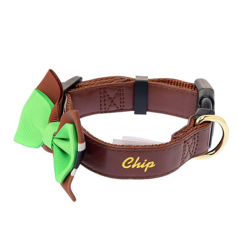 首輪 小型犬用 チップ リボン