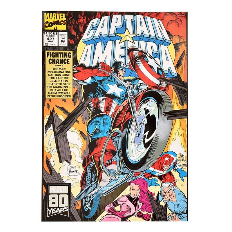 【アウトレット】マーベル キャプテン・アメリカ ポストカード コミック American Vintage For 80th Anniversary
