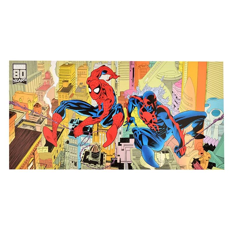 マーベル スパイダーマン、スパイダーマン2099 ポストカード(L) American Vintage For 80th Anniversary